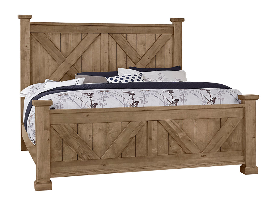 Cool Rustic Natural King X Bed with X footboard