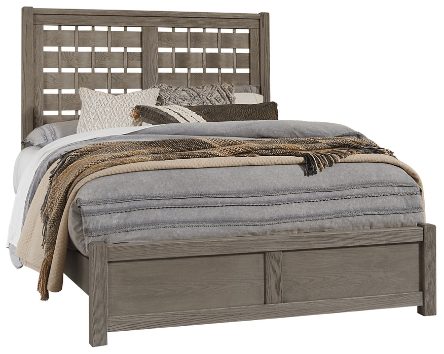 Latitudes Ash Grey Queen Horizontal Weave Bed