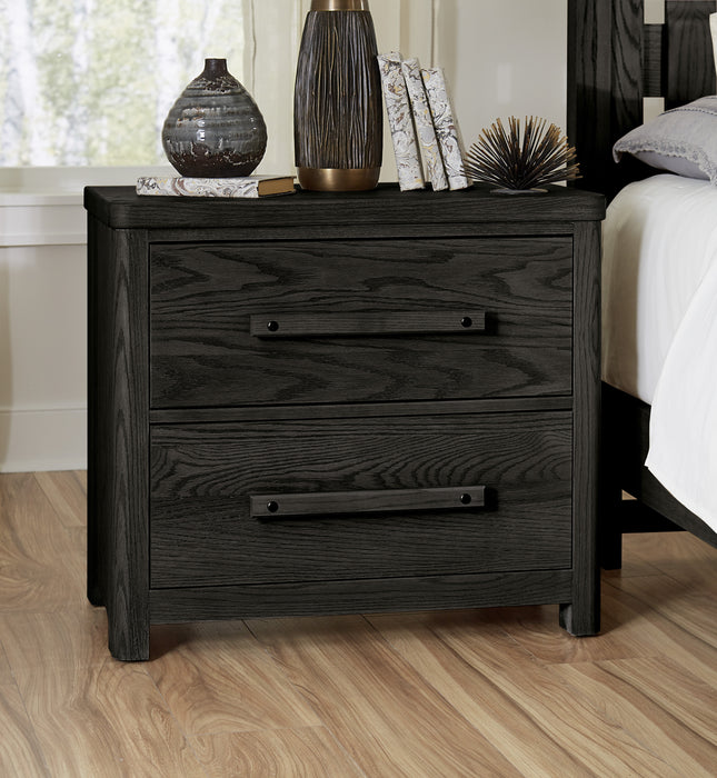 Latitudes Ebony Nightstand