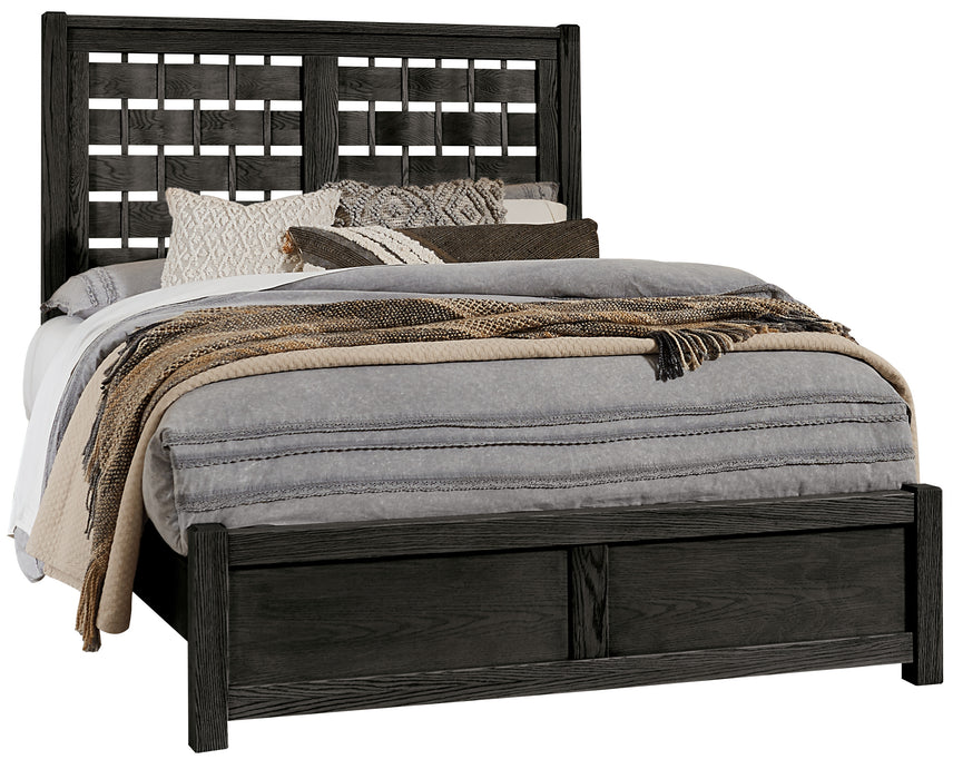 Latitudes Ebony King Horizontal Weave Bed