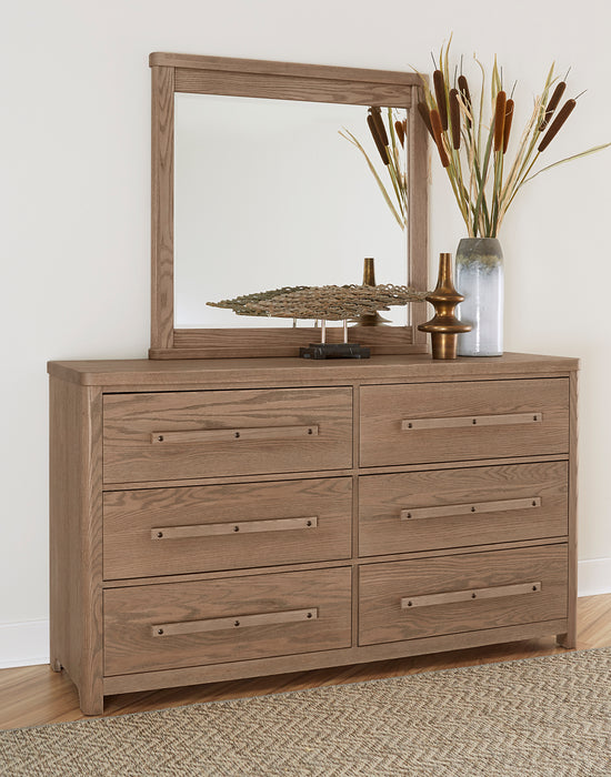 Latitudes Natural Oak Mirror