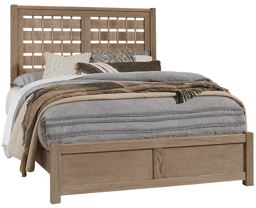 Latitudes Natural Oak Queen Horizontal Weave Bed