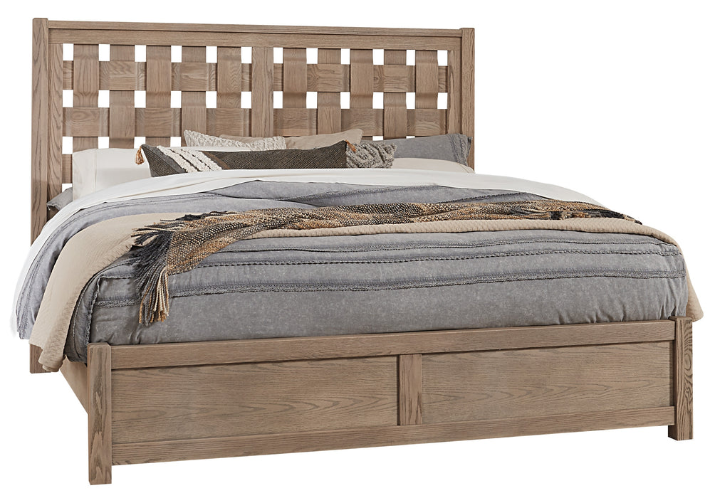 Latitudes Natural Oak Queen Basket Weave Bed
