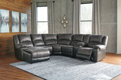 Nantahala Signature Design by Ashley 6-Piece Reclining Sectional