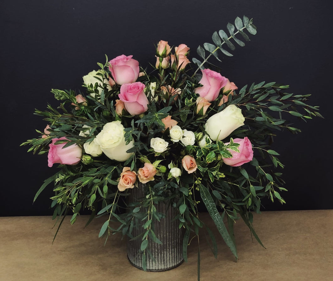 Farm To Table Roses & Eucalyptus