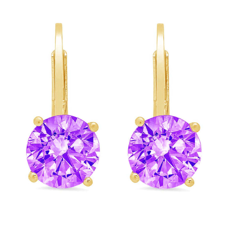 Amethyst-Drop Dangle-24-Yellow-Gold-side