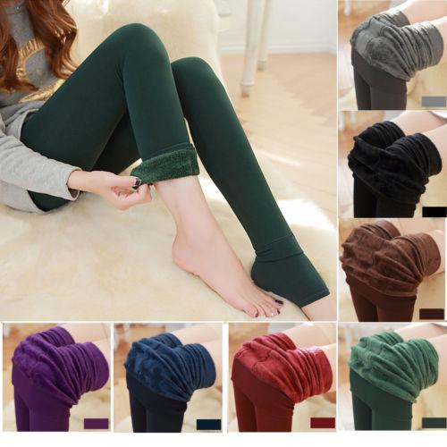 Hot Women Winter Thick Warm  Pants