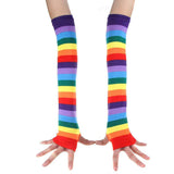Rainbow Long Gloves Socks
