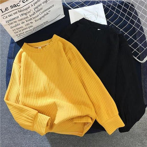 New Solid Color Base Sweater