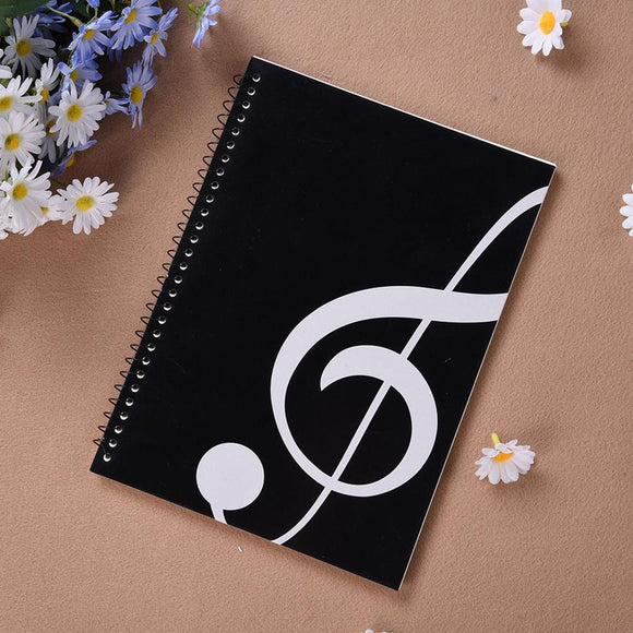 Music Sheet Spiral Notebook