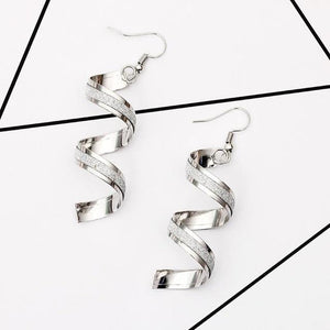 Spiral Curved Geometric Earrings