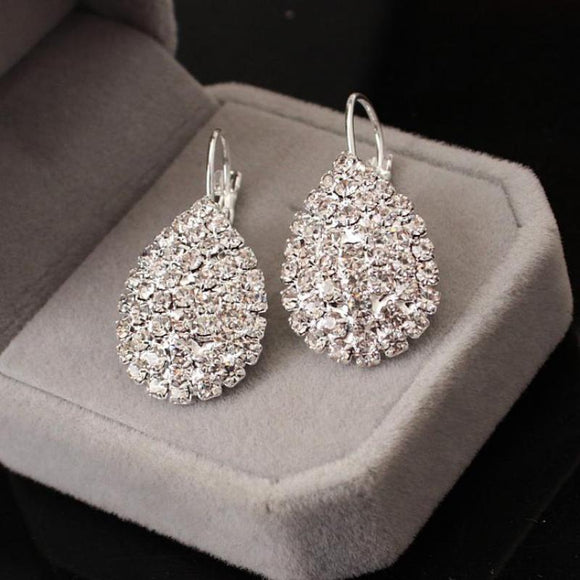 Women Water Drop Pendant Earrings