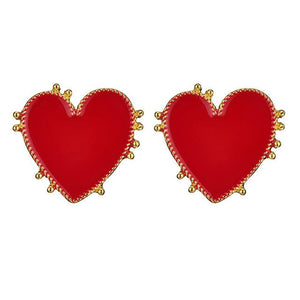 Big Red Heart Earrings