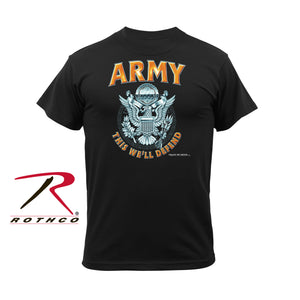 Military T-Shirt - Army Emblem in Black