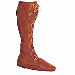 High Leather Boots without Fringe