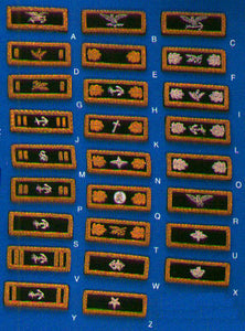 Civil War Shoulder Boards for U.S. Naval Officers
