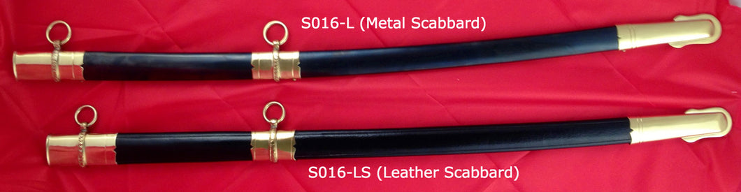 Scabbard Only (Leather or Metal), for M1850 US Foot Officer's Sword