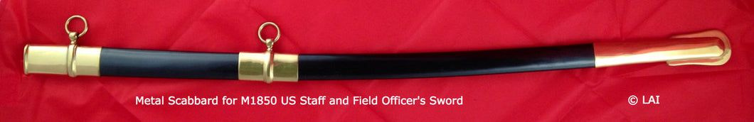 Metal Scabbard Only for M1850 US Staff & Field Officer's Sword