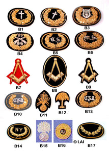 Civil War Hat Insignia - Large, Embroidered