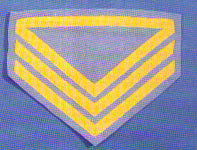 Civil War Chevrons for Quartermaster Sergeant Company
