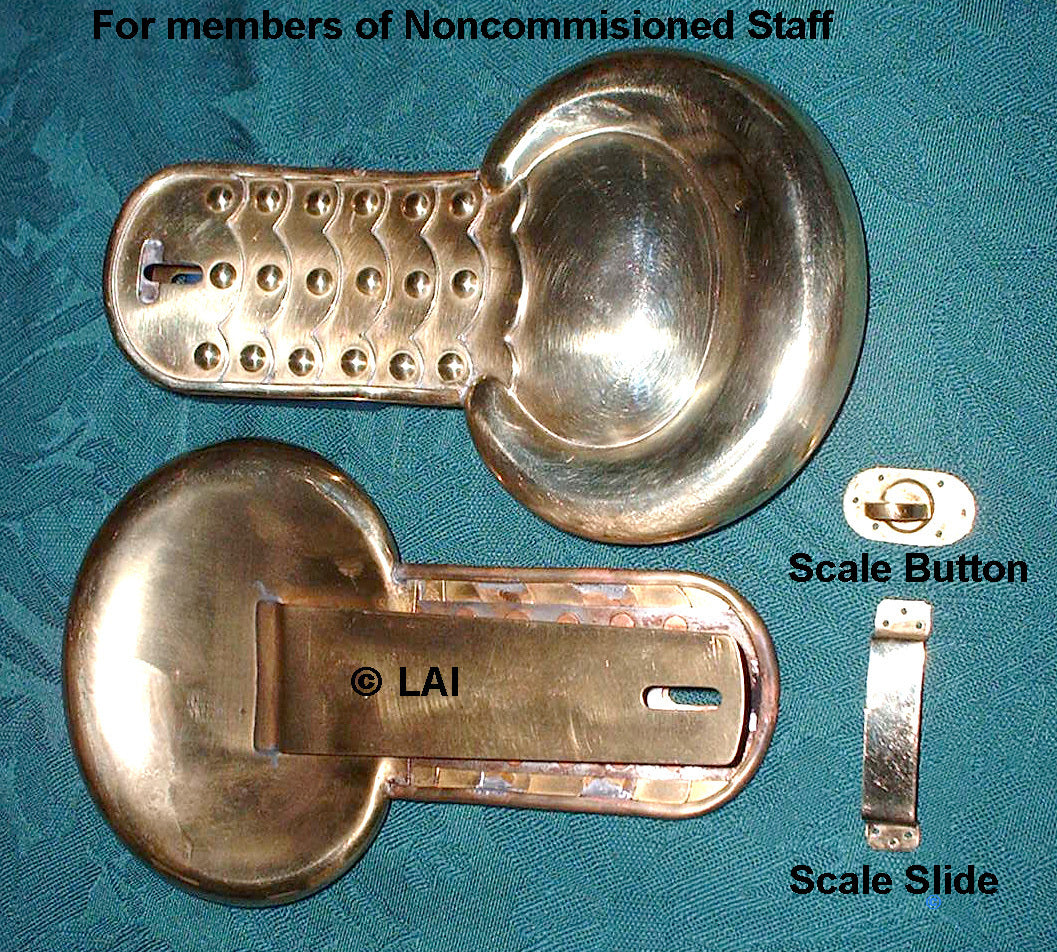 Civil War Shoulder Scale for NCO Staff in Union Army, Brass