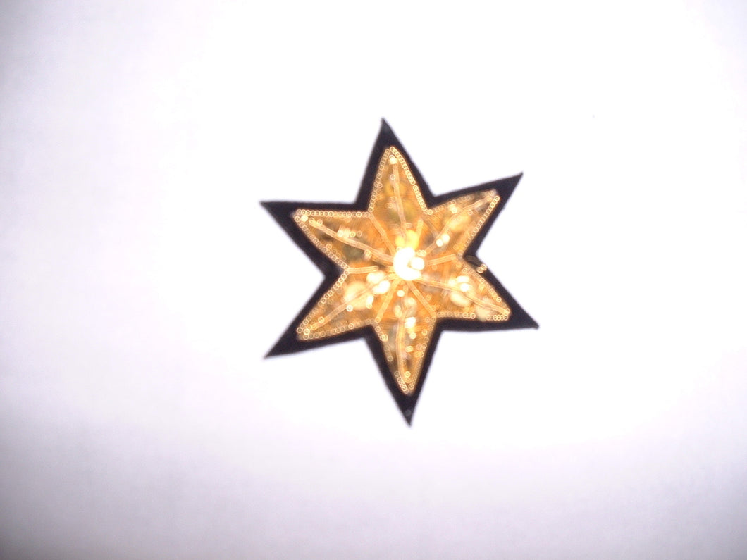 Six Point Embroidered Stars