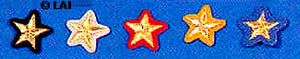 Civil War Confederate Collar Rank Insignia Stars for Major
