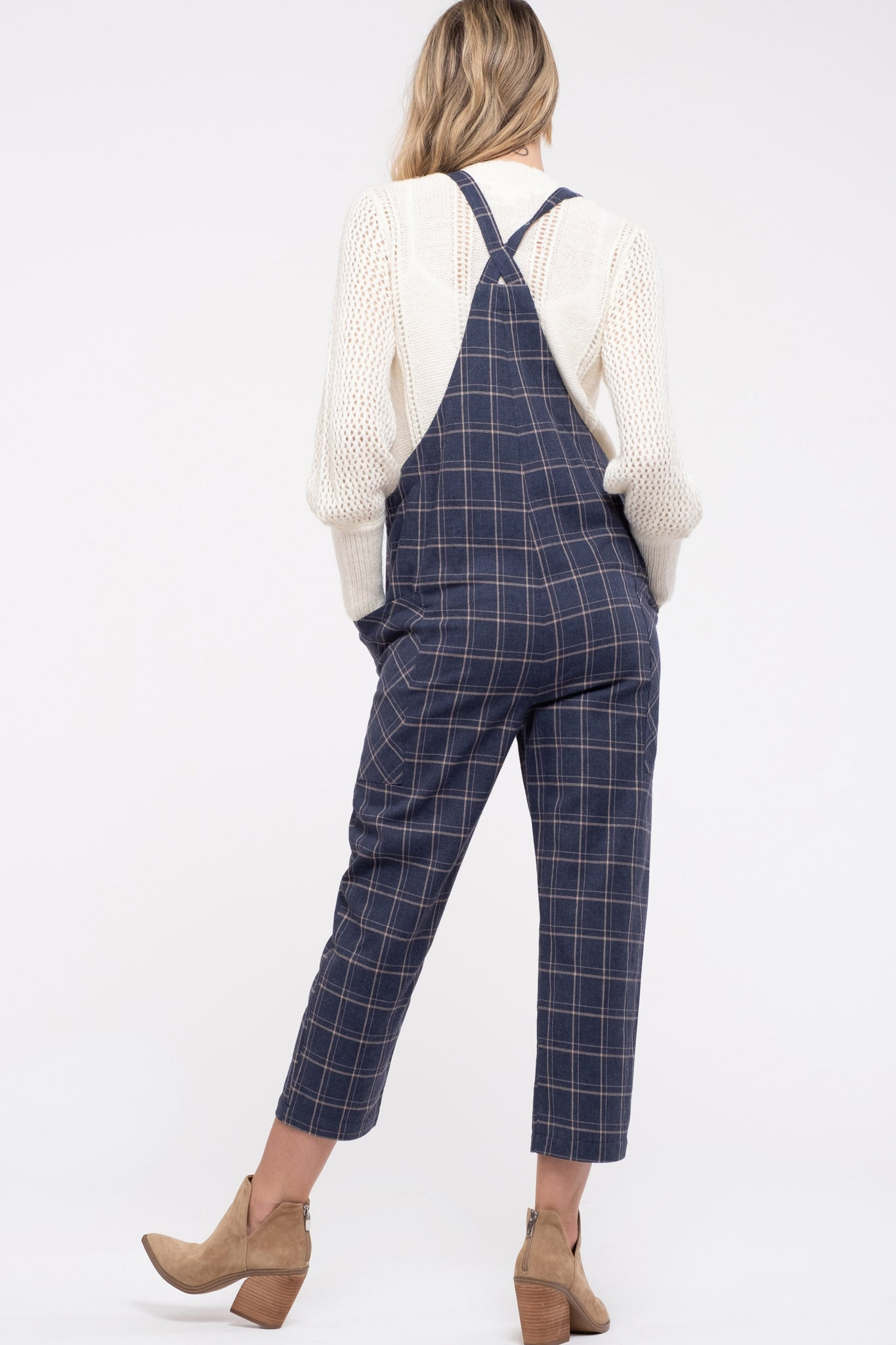 Plaid Overall Jumpsuit