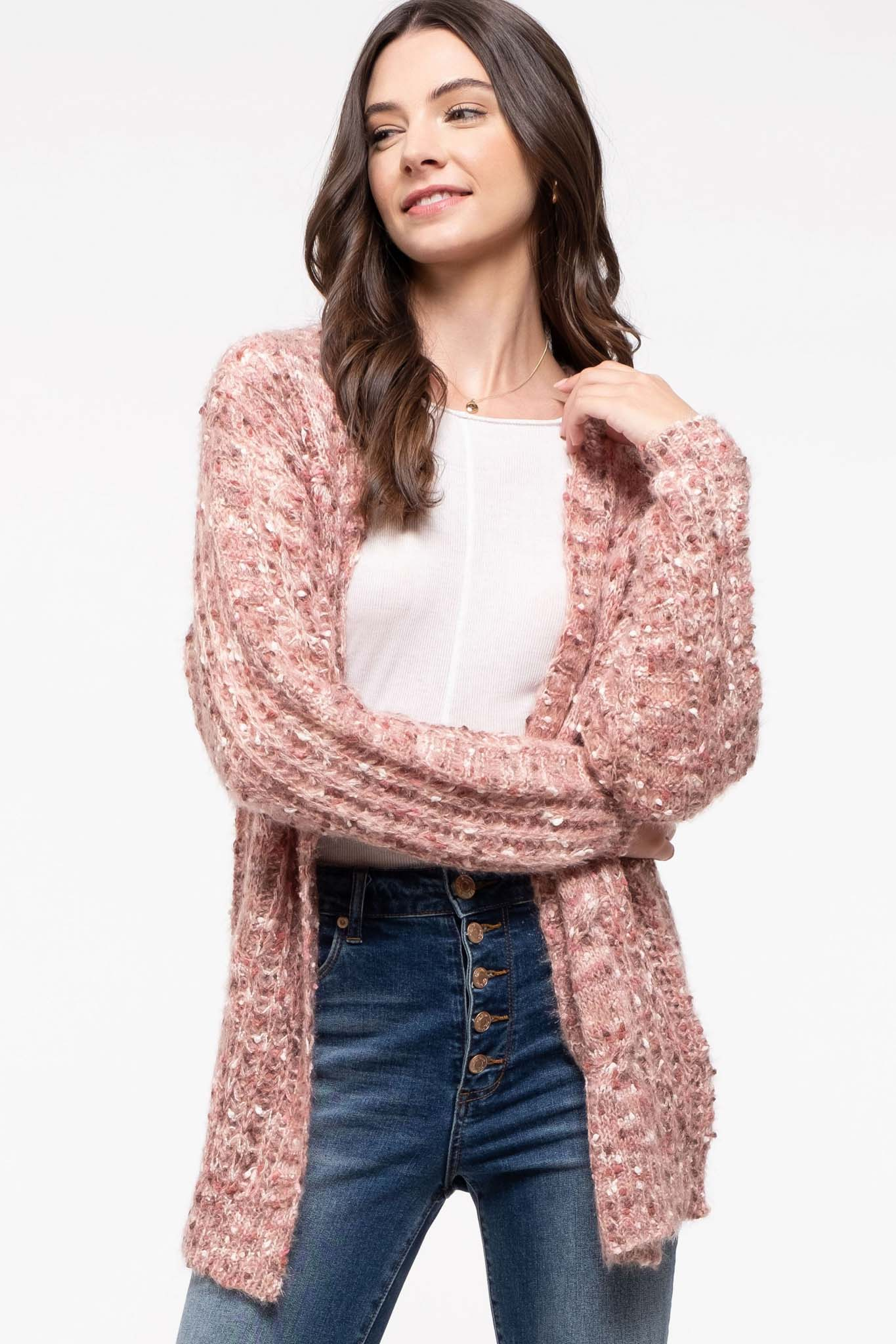 Textured Cable Cardigan