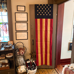 American Banner Flag - Tea Stained