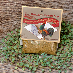 At Halladay's they hand blend and package their famous line of specialty dip and seasoning blends on their family property, in Vermont. They are a great alternative to generic seasoning blends. Their mixes are natural, GMO and MSG free.