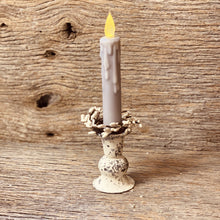Load image into Gallery viewer, White Rustic Taper Candle Holder