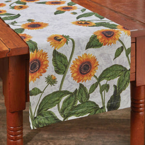 Pair this Sunflower table runner with our Sunflower Toile Napkins & Placemats for a matching set!