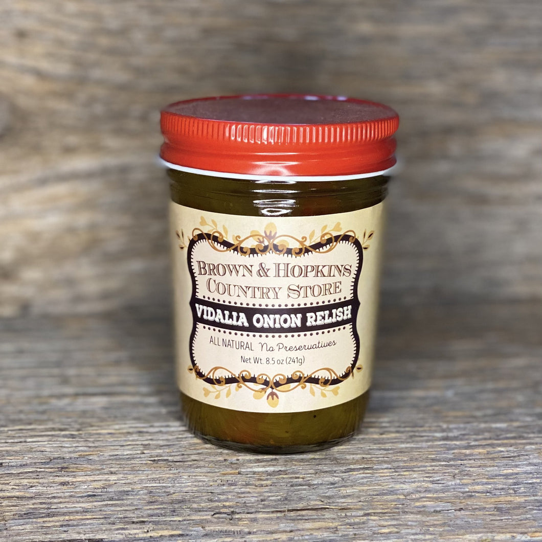 Our popuar Vadalia Onion Relish is a customer favorite, and can be mixed with cream cheese to make a delicious pretzel dip!