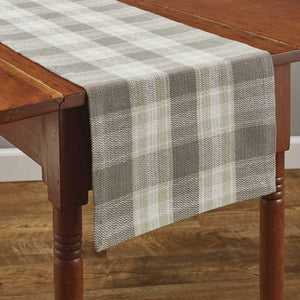 Weathered Oak Plaid Table Runner