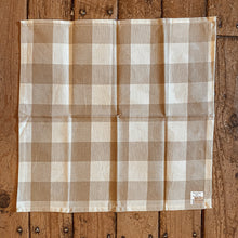 Load image into Gallery viewer, Wicklow Buffalo Check Natural Placemat & Napkin Setting