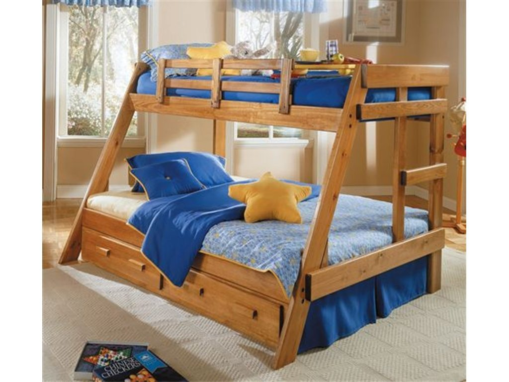 Woodcrest Twin/Full Bunk Bed
