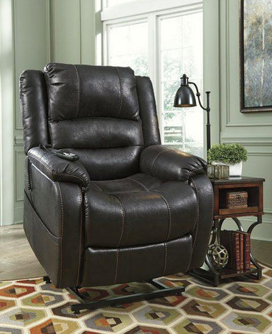 Ashley 109 Yandel Power Lift Recliner - Black