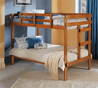 Woodcrest Twin/Twin One Piece Bunk Bed