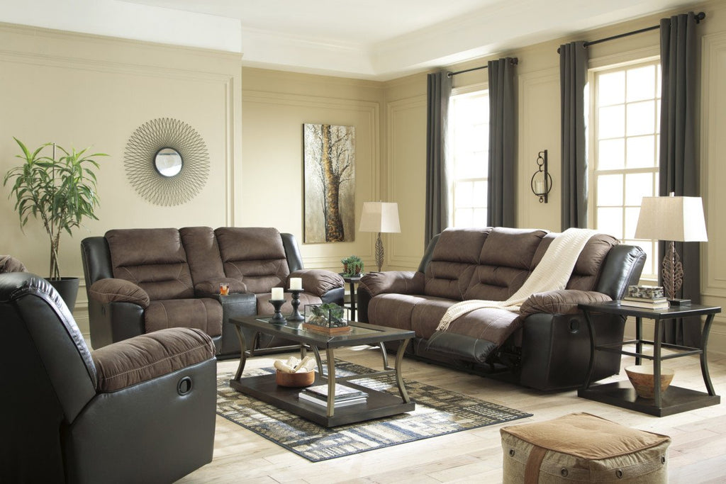 Amazing Ashley 291 Earhart Double Reclining Loveseat W Console Gmtry Best Dining Table And Chair Ideas Images Gmtryco