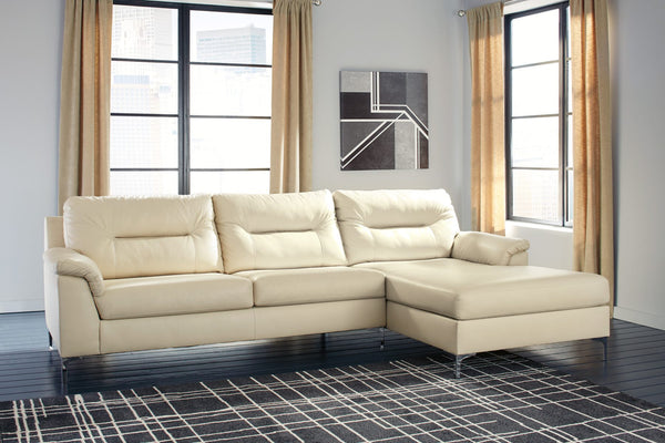 Ashley 396 Tensas Sectional - Ice