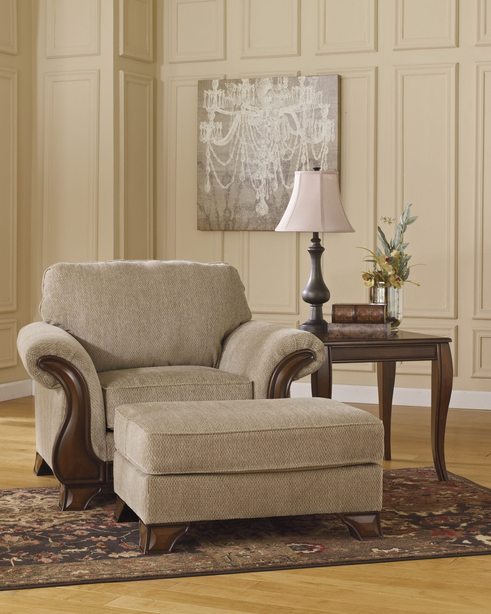 Ashley 449 Lanett Chair and Ottoman