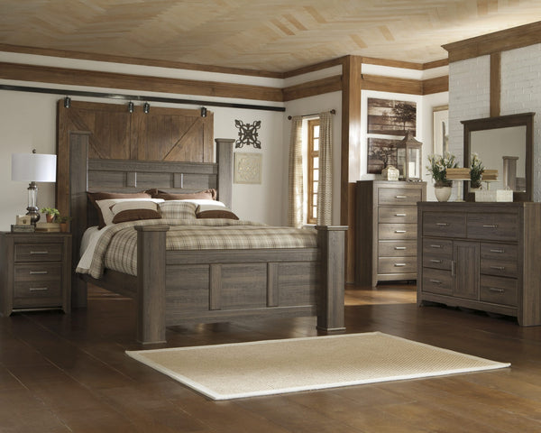 Ashley B251 Juararo Queen Poster Bed