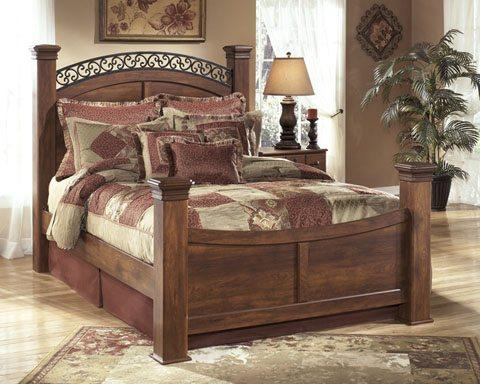 Ashley B258 Timberline King Poster Bed