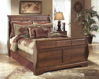 Ashley B258 Timberline Queen Sleigh Bed