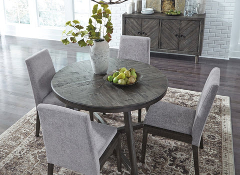 Ashley D568 Besteneer Round Dining Room Table