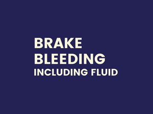 Brake Bleeding  (including fluid)