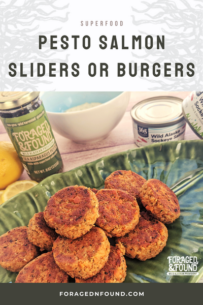Recipe: Superfood Pesto Salmon Sliders or Burgers