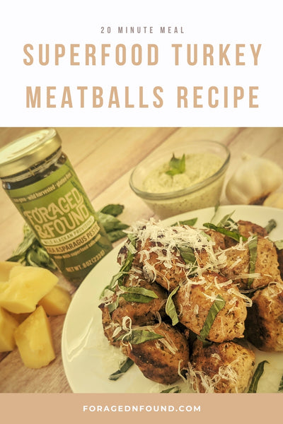 Recipe: Pesto Turkey Meatballs or Pesto Turkey Burgers