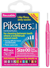 Load image into Gallery viewer, Piksters Interdental Brush 40PK Sizes 00 to 7